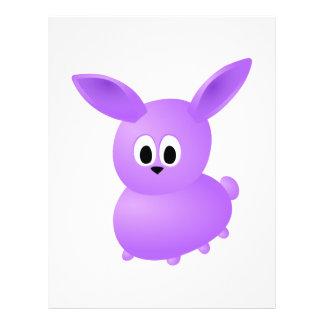 Purple Baby Rabbit. Flyer Design