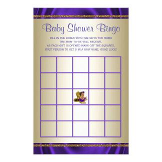 Purple Baby Shower Bingo Girl Baby Shower Games 14 Cm X 21.5 Cm Flyer