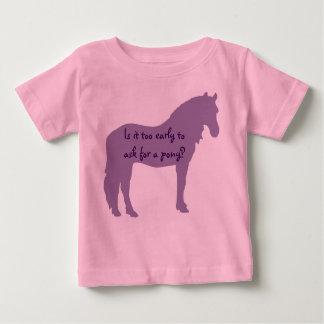 Purple Baby Wants Pony Shirts