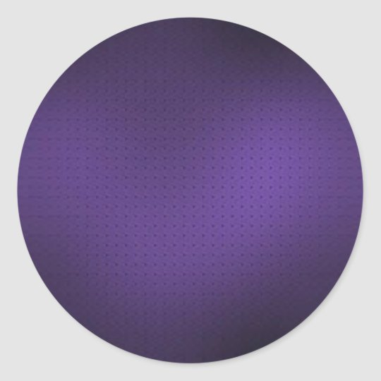 purple background - add your own text or image classic round sticker