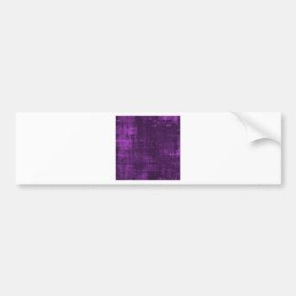 purple background bumper sticker