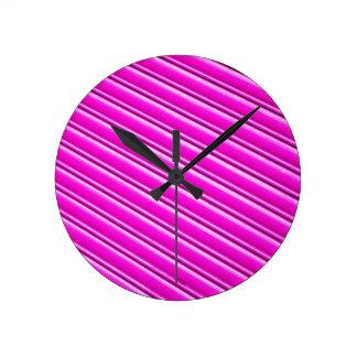 Purple background wall clocks