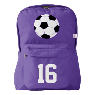 Purple Backpack: Soccer Backpack