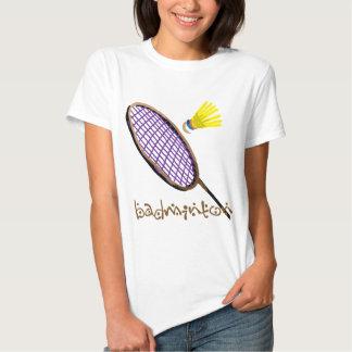 Purple badminton racket tees