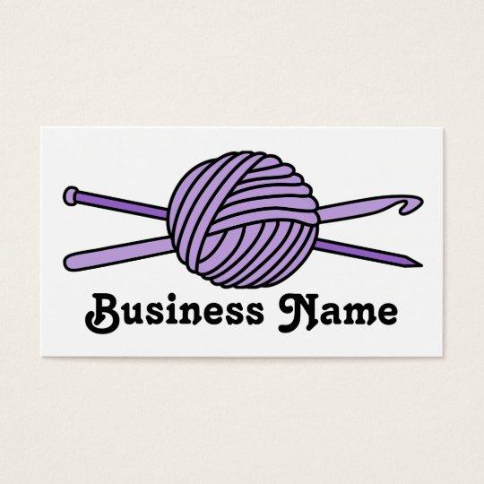 Purple Ball of Yarn (Knit & Crochet) Business