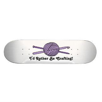 Purple Ball of Yarn Knit Crochet Skate Decks