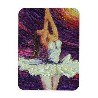 Purple Ballerina Dancing Magnet