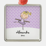 Purple Ballerina Snowflakes Personalised Christmas