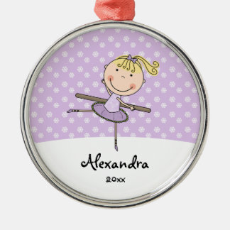 Purple Ballerina Snowflakes Personalized Christmas Christmas Ornament