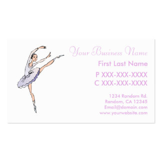 Purple ballet dancer custsom cards business card template