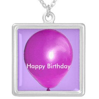 Purple Balloon Necklace
