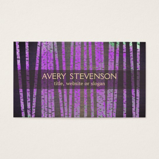 Purple Bamboo Holistic and Natural Health Business Card