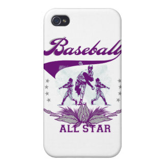Purple Baseball All Star T-shirts and Gifts Cover For iPhone 4