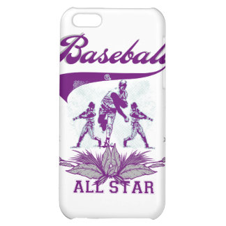 Purple Baseball All Star T-shirts and Gifts Case For iPhone 5C