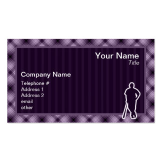 Purple Baseball Player Double-Sided Standard Business Cards (Pack Of 100)