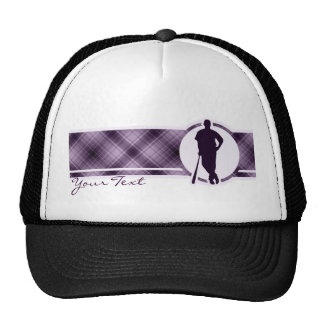 Purple Baseball Player Trucker Hat