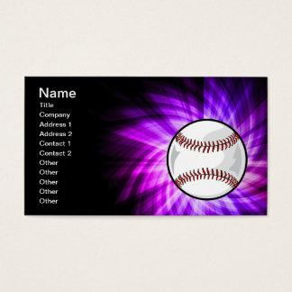 Purple Baseball; Softball Business Card