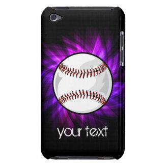 Purple Baseball; Softball iPod Case-Mate Case