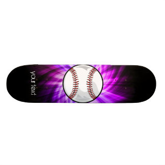 Purple Baseball; Softball Skate Deck