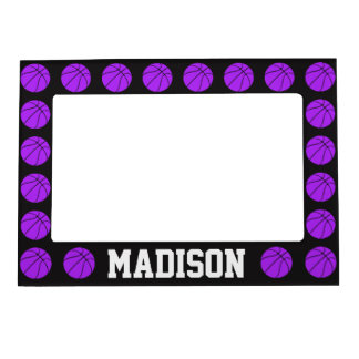 Purple Basketball Custom Magnetic Picture Frame