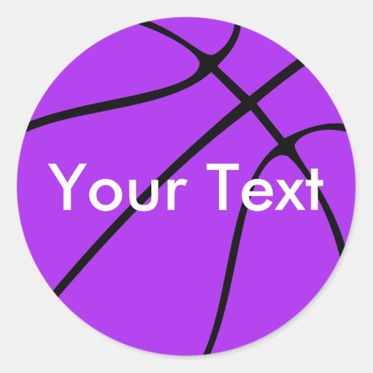 Purple Basketball Custom Team Name / Text Stickers