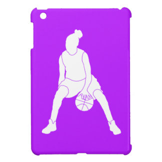 Purple Basketball Girl iPad Mini Case