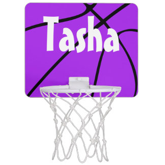 Purple Basketball Mini Basketball Hoop