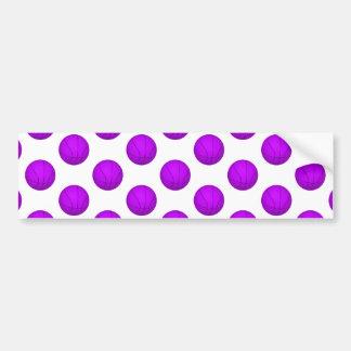 Purple Basketball Pattern Bumper Sticker