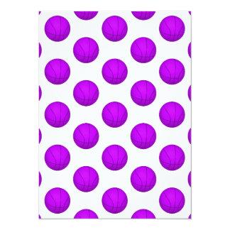Purple Basketball Pattern Card