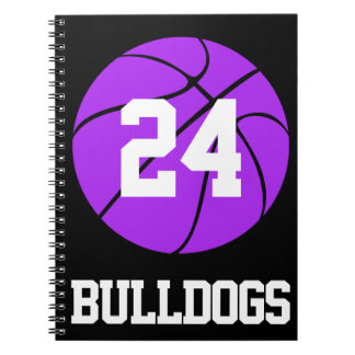 Purple Basketball Student-Athlete Name and Number Notebook