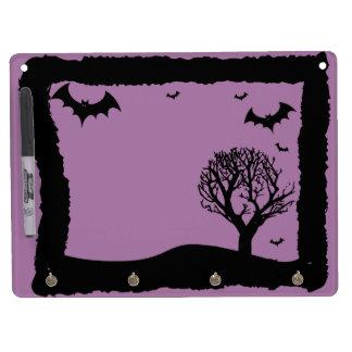 Purple Bat Halloween White Board