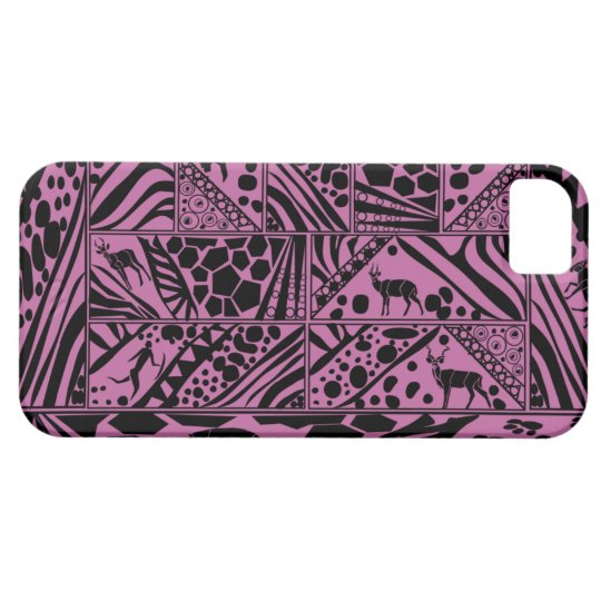 Purple Batik style I phone case