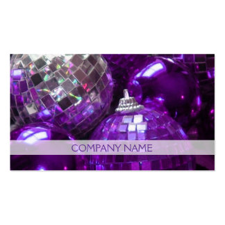Purple Baubles business card front text