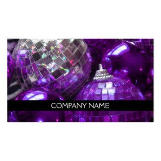 Purple Baubles business card front text black