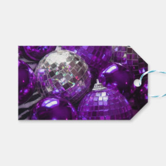 Purple Baubles gift tags