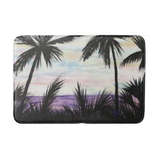 Purple Beach Scene for Bath Bath Mat