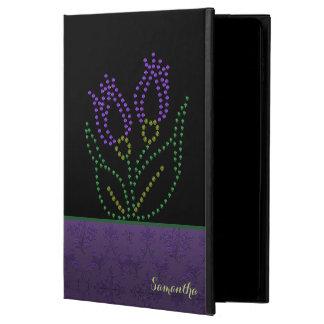 Purple Beaded Flower Custom iPad Air 2 Case