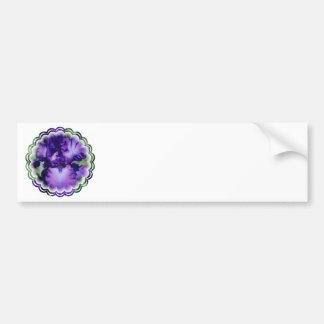 Purple Bearded Iris Bumper Sticker