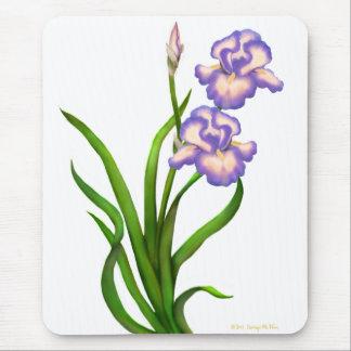 Purple Bearded Iris Flowers Mousepad