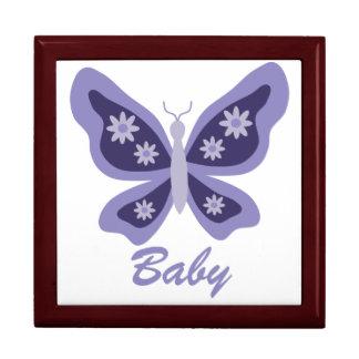 Purple Beautiful Butterfly keepsake box