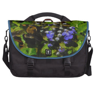 Purple Bee Balm and Bumble Bee Commuter Bags