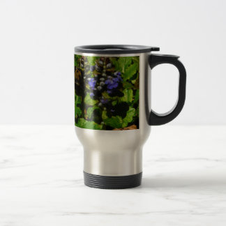 Purple Bee Balm and Bumble Bee Stainless Steel Travel Mug