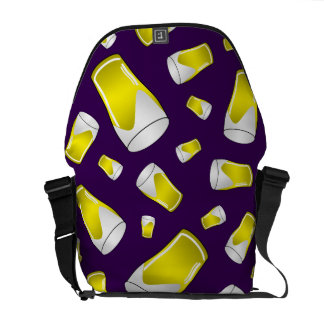 Purple beer messenger bag