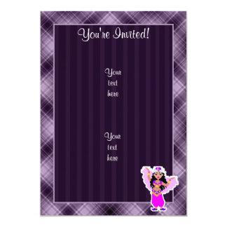 Purple Belly Dancer 13 Cm X 18 Cm Invitation Card