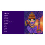 Purple Belly Dancer Genie Girl with Magic Bottle Business Card Templates
