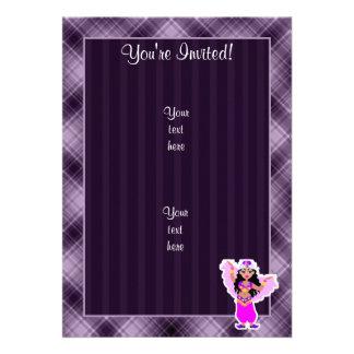 Purple Belly Dancer Custom Invite