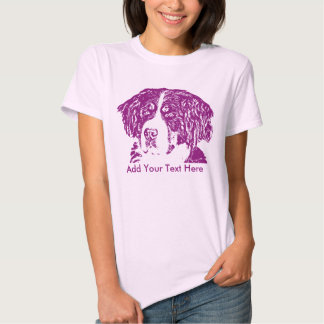 Purple Bernese Mountain Dog Add Your Text Tee Shirt