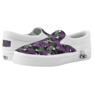 Purple Berries & Leaves Slip-On Shoes