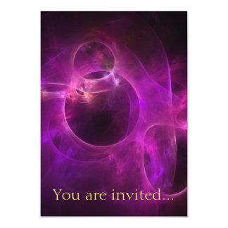 Purple Berry Circles 13 Cm X 18 Cm Invitation Card