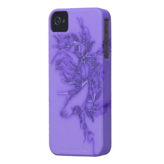 Purple Beta Fish iPhone 4 Covers